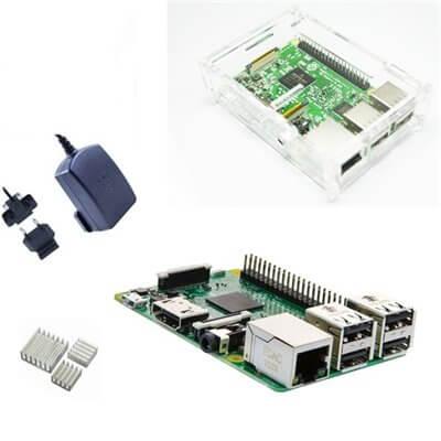 Raspberry Pi 3 Official  Desktop Starter Kit con Alimentatore, Case e Dissipatori (E21)