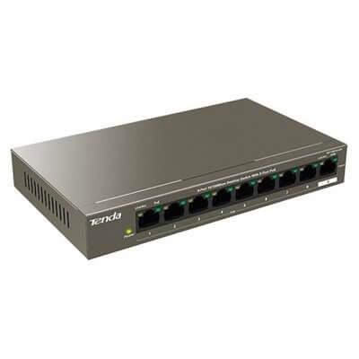 TENDA TEF1109P-63W switch 9 porte 10/100 8 porte PoE 63W