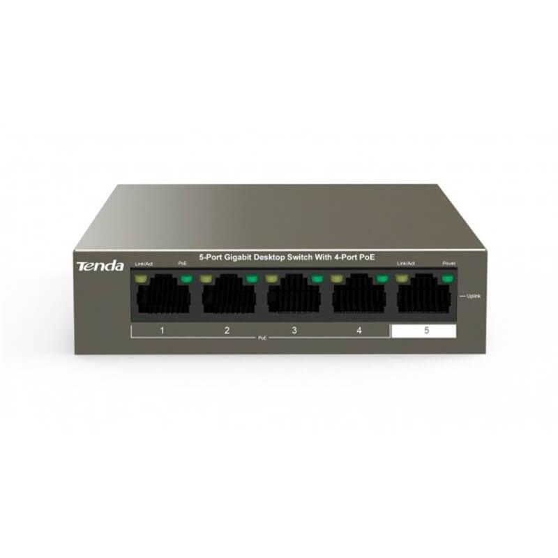 TENDA TEG1105P Switch Desktop 5 Porte 10/100/1000 con 4 Porte PoE