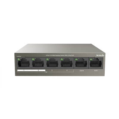 TENDA TEF1106P Switch Desktop 6 Porte 10/100 con 4 Porte PoE  63W