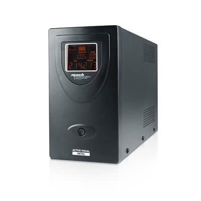 MACHPOWER UPS LINE INTERACTIVE 2000VA/1200W, DISPLAY LCD, STABILIZZATORE AVR, TOWER IN METALLO, 2 BATTERIA 12V/9AH, 2 USCITE SCH