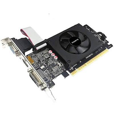 SCHEDA VIDEO 2GB GDDR5 NVIDIA GEFORCE GT710 LOW PROFILE GIGABYTE GV-N710D5-2GIL