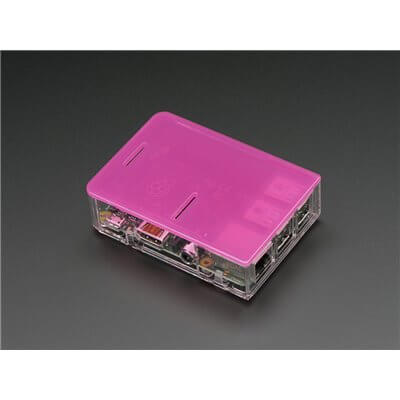 "Adafruit Pi Model B+ / Pi 2 Case  Base - Clear ""chiaro""  per Raspberry Pi B+ / Pi 2"