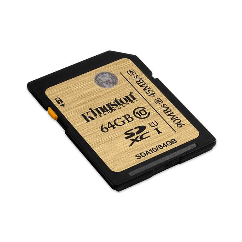 KINGSTON MEMORY CARD SD SDHC/SDXC C10 UHS-I 64GB SDA10/64GB