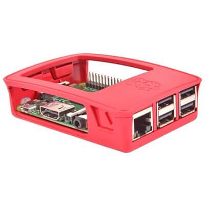 Contenitore ufficiale per Raspberry Pi 3 Model B, 2 B, B+, Rosso/bianco