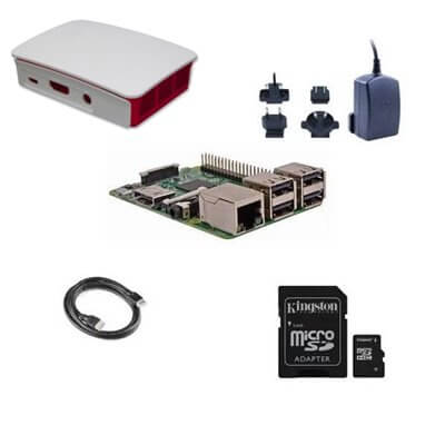 Kit (02) Raspberry Pi 3 Model B (1GB) 16GB NOOBS Starter Kit