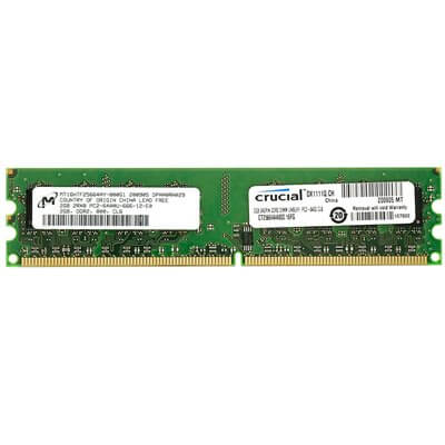 RAM DIMM DDR2 800MHZ 2GB CL6 CRUCIAL CT25664AA800
