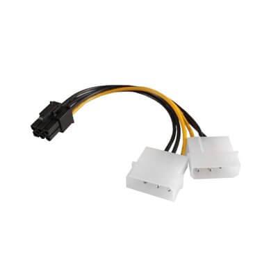VULTECH CAVO ADATTATORE ALIMENTAZIONE DA MOLEX A PCI-E 6 PIN SC10903