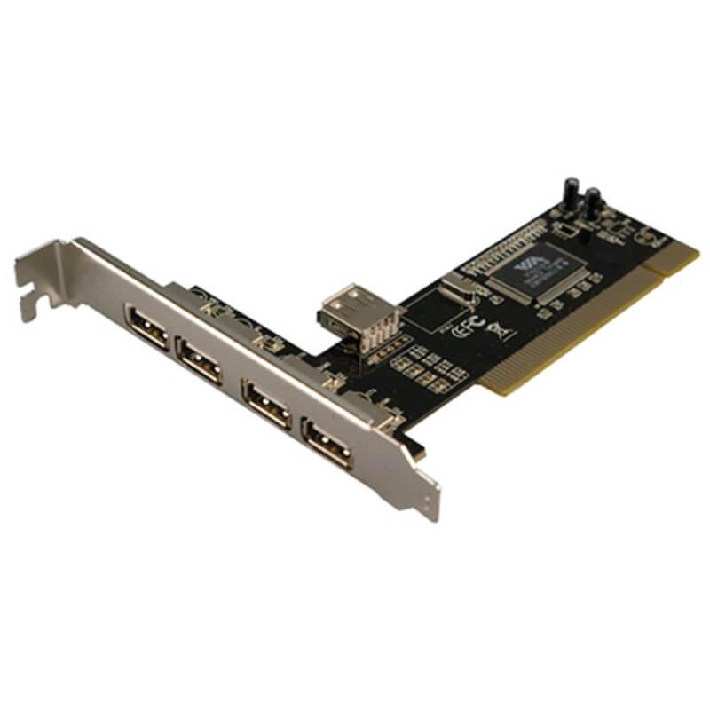 SCHEDA DI ESPANSIONE CON 4 PORTE USB ESTERNE + 1 INTERNA PCI LOGILINK