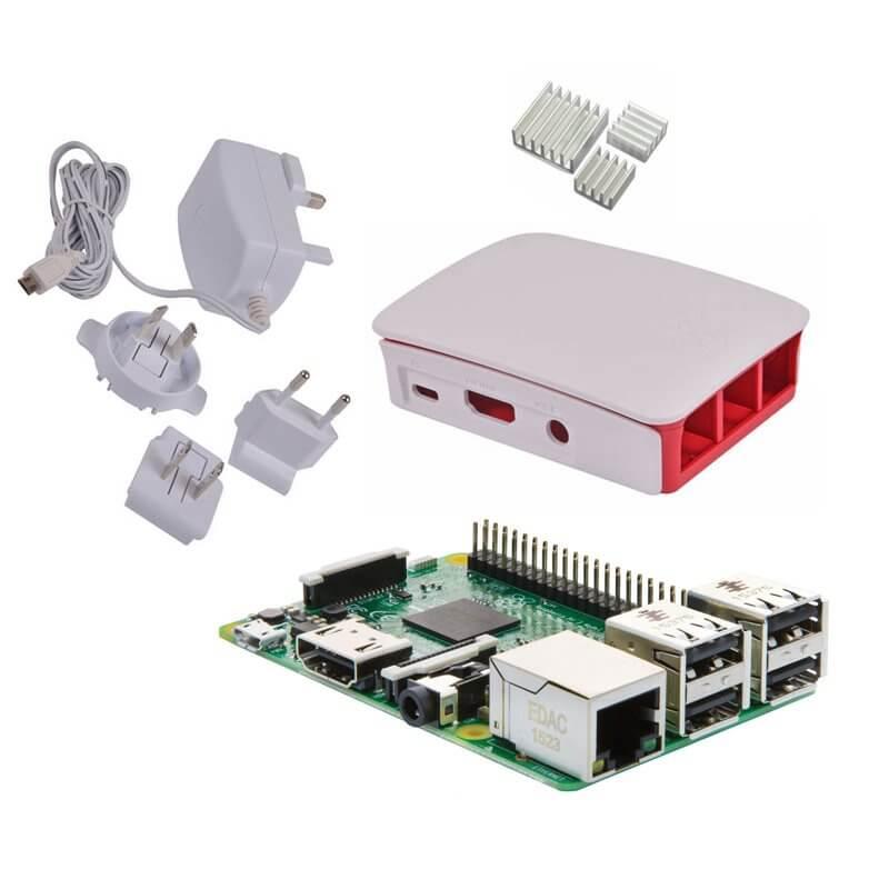 Raspberry Pi 3 Starter Kit (E01) con Alimentatore, Case e Dissipatori