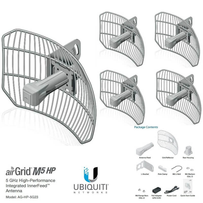 UBIQUITI AirGrid M5 AG-HP-5G23 - CPE access point outdoor POE 5GHz 23dBi