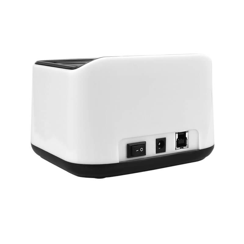 VULTECH DOCKING STATION USB 3.0 - SUPPORTA 2 HDD SATA - TASTO CLONE - COLORE BIANCO - DK-USB3W