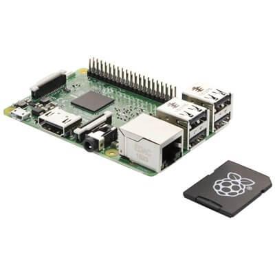 Raspberry Pi 3 Modello B & Scheda MicroSD da 16GB con NOOBS Kit Ufficiale