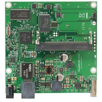 MIKROTIK ROUTERBOARD RB411GL , 1xLAN Gigabit, 1xmPCI,  RouterOS Lv.4