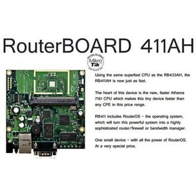 MIKROTIK ROUTERBOARD RB411AH, 1xLAN, 1xmPCI, RouterOS Lv.4