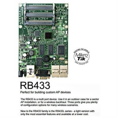 MIKROTIK ROUTERBOARD RB433, 3xLAN, 3xmPCI, RouterOS Lv.4