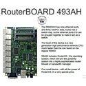 RouterBOARD RB493AH, 9x LAN, 3x MiniPCI, 128MB SD-RAM i 64MB FLASH