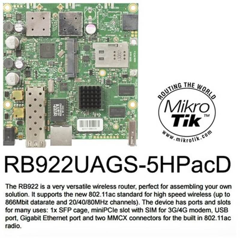 MikroTik RouterBOARD RB922UAGS-5HPacD 802.11ac 866Mbps