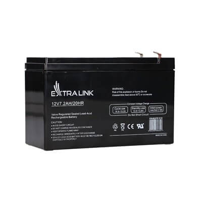 EXTRALINK AKUMULATOR BATTERY ACCUMULATOR AGM 12V 7,2AH 7AH 151X65X93MM 2.1KG T1 EX-6327