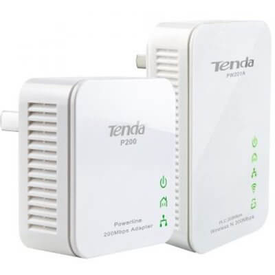 TENDA PW201A+P200 300Mbps WiFi Powerline Extender Starter Kit 2 Units