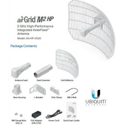 Ubiquiti AirGrid M2 HP 2.4GHz 20 dBi