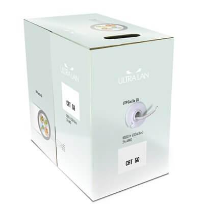 ULTRALAN UTP CABLE CAT 5E CU PVC 305M (INDOOR) ULAN-UTP-C5E-CU