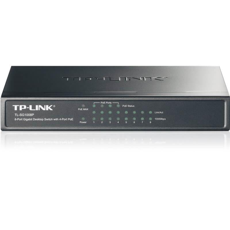 Interruttore 8 porte Gigabit, 4 porte POE TL-SG1008P