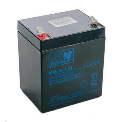 Batteria MW 5-12 5Ah 12V (connettori 6,35mm)