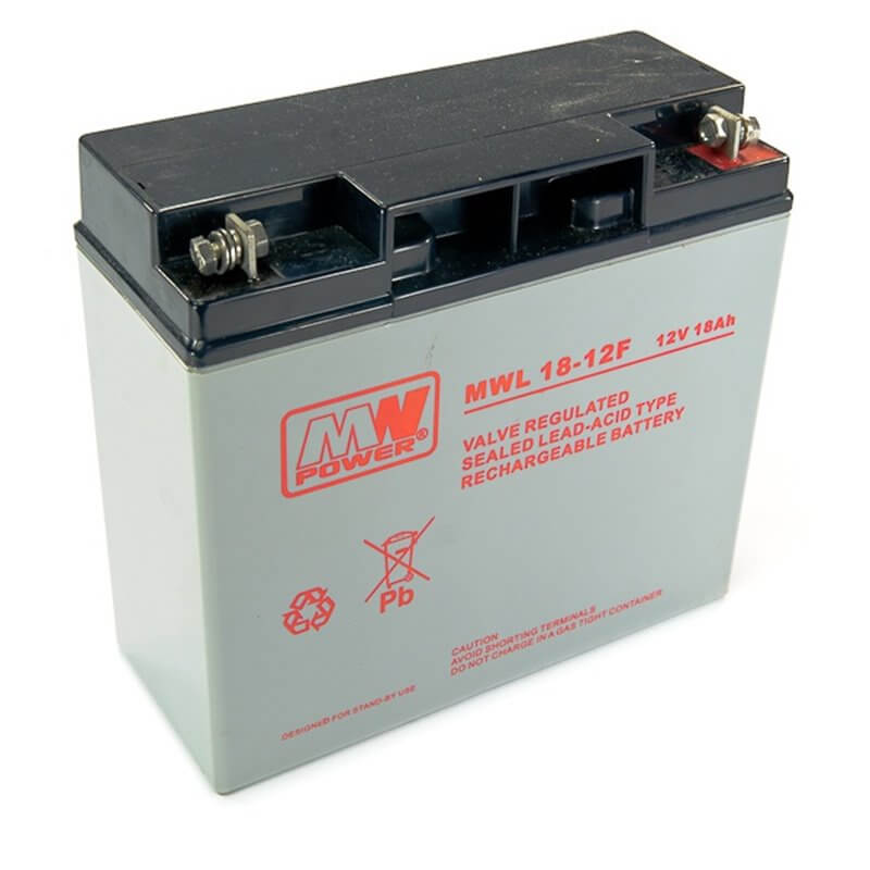 Batteria MWL 18-12F 12V 18Ah Long Life (connettore verticale)