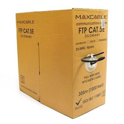 Cavo CCA FTP Maxcable kat.5e 305m gel esterno