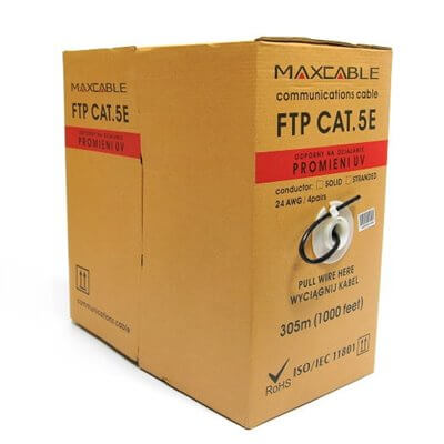 Cavo FTP Maxcable filo nero UV, kat 5e, 305 m