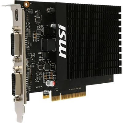 SCHEDA VIDEO 2GB MSI GT710 DISSIPAZIONE PASSIVA GT-710-2GD3H-H2D