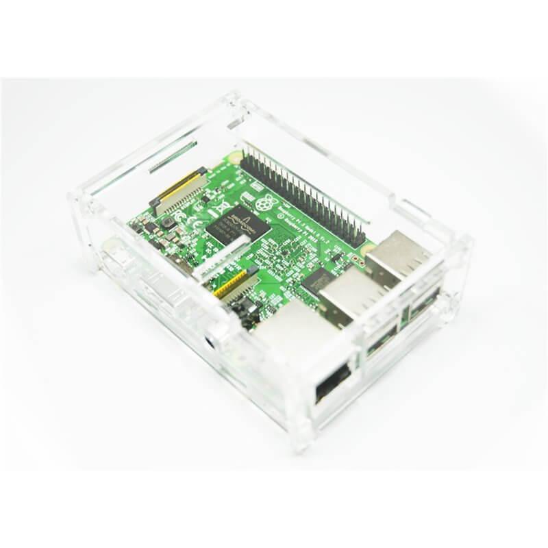 Contenitore  per Raspberry Pi 3 Model B, 2 B, B+, trasparente ACRYLIC